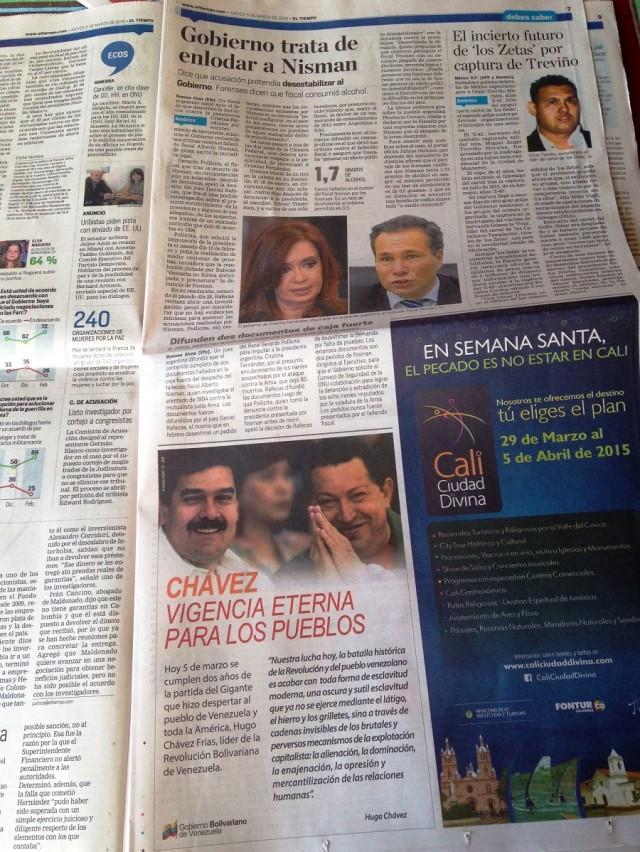Chavez El Tiempo 05mar2015
