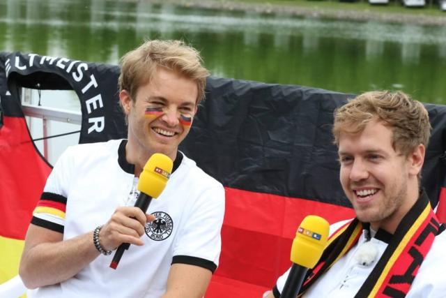Foto:  Sebastian Vettel  y Nico Rosberg / sebastianvettel.de