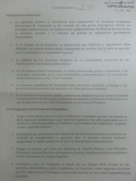 DocumentoSenadoColombia