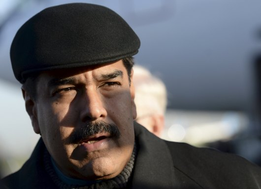 VeneVenezuela's President Maduro arrives at Vnukovo-2 airport in Moscow