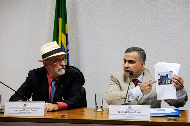 Saab durante se presentación en la Comisión de DDHH y Legislación Participativa del Senado de Brasil / Foto Jefferson Rudy / Agencia Senado
