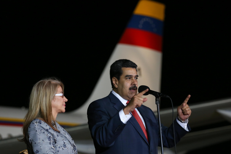 Nicolás Maduro a su salida hacia Rusia  AVN