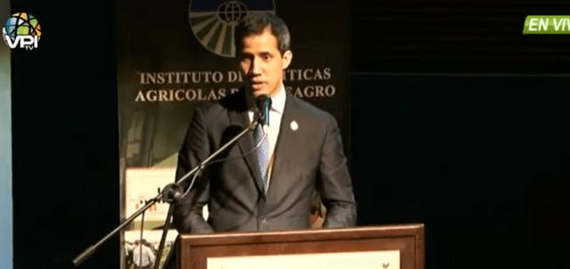 Juan Guaidó desde Fedeagro, imagen captura