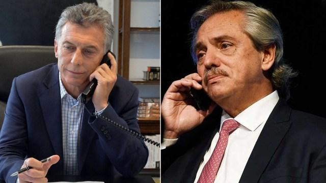 Mauricio Macri y Alberto Fernandez tuvieron contacto telefónico.
