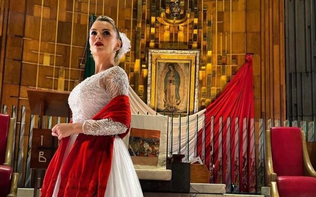 """Marjorie de Sousa Virgen de Guadalupe - Marjorie de Sousa le cantó """"Las Mañanitas"""" a la Virgen de Guadalupe (video)"""