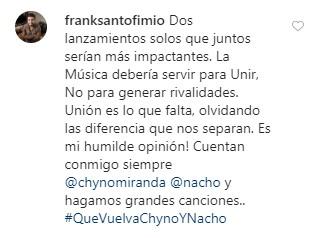 7 8 - ¿Escucharon a los fanáticos? #QueVuelvaChynoyNacho se posicionó y esto fue lo que dijeron los artistas - #Noticias