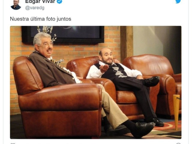 "edgar vivar 2 - La foto inédita de Edgar Vivar, el ""Señor Barriga"", que se publicó en el Twitter del Profesor Jirafales"
