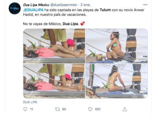 DUA - Las sensuales y polémicas fotos de Dua Lipa en Tulum, donde recibió el año pese a la pandemia