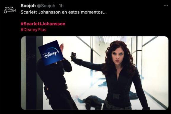 meme 3 - Los mejores MEMES que dejó la demanda de Scarlett Johansson a Disney