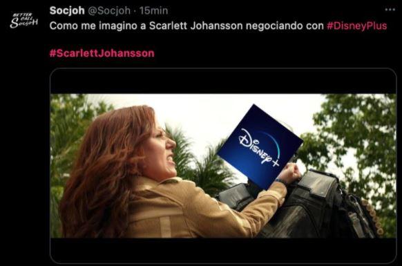 meme 4 - Los mejores MEMES que dejó la demanda de Scarlett Johansson a Disney