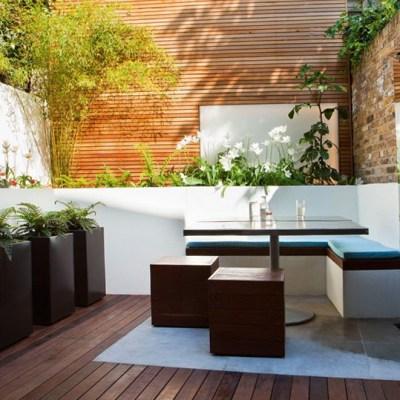 Intimidad en jardines pequeños