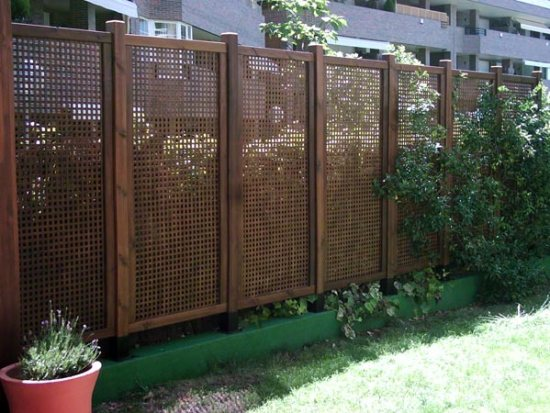 Cerramientos jardín - Celosías de madera