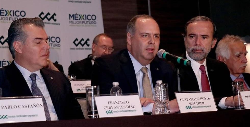Presidente de Coparmex califica como negativo el trabajo de AMLO en 50 días