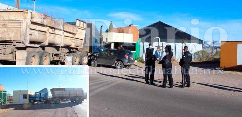 Se registra accidente carretero en entrada a Cuauhtémoc