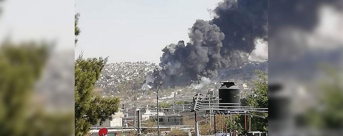 Reportan explosión en tianguis pirotécnico en Chimalhuacán