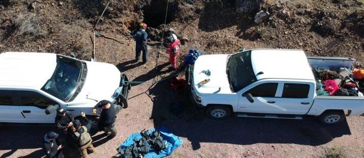 Hallan restos óseos, de tela y cinta adhesiva en Matamoros