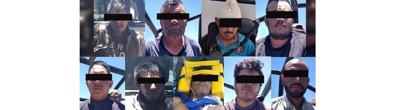 Capturaron a 9 de Gente Nueva tras enfrentamiento en Gómez Farías
