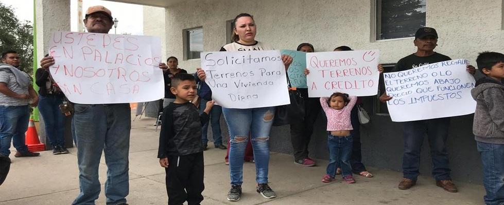 Familias de escasos recursos presionan por terrenos en Cuauhtémoc