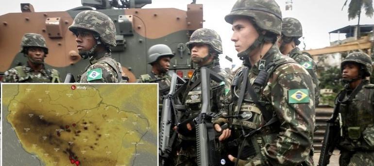 Toma el control Ejército de Brasil y combatirá incendio del Amazonas