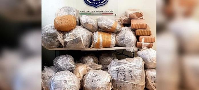 Aseguran 270 kilos de marihuana en la carretera juárez-ascensión
