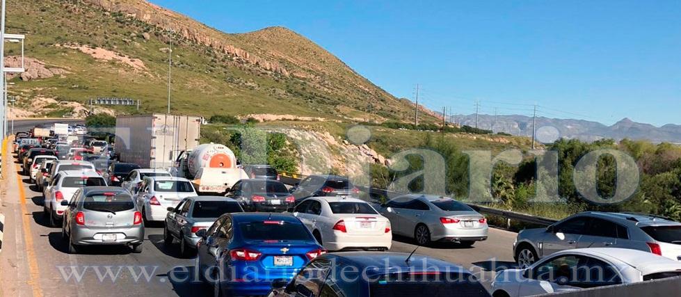Paralizan estatales carretera a Aldama por operativos