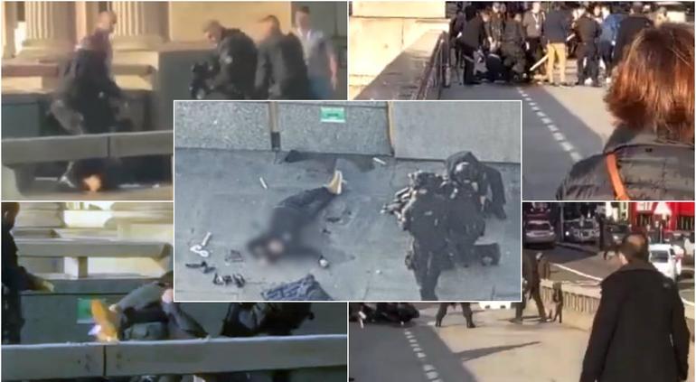Momento en que abaten al terrorista en Londres (FUERTE VIDEO)