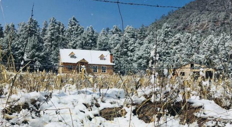 Espectacular panorama tras nevada en Sisoguichi, Bocoyna (FOTOS)
