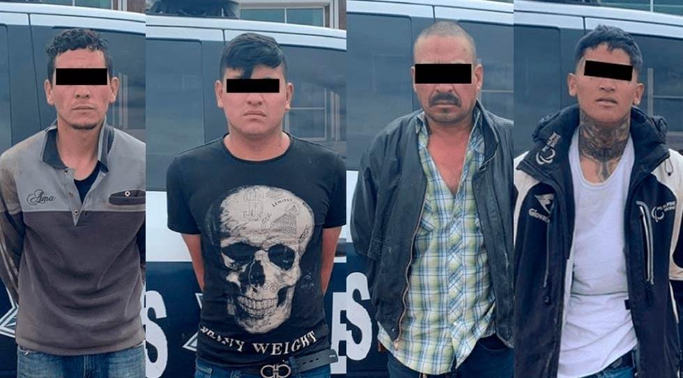 Capturan a cuatro sujetos fuertemente armados en Cuauhtémoc