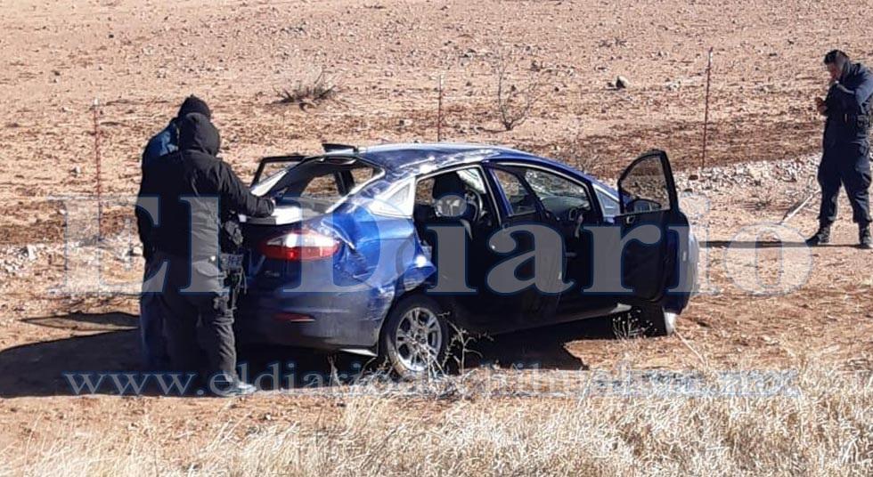 Volcadura en la carretera a Juárez deja un lesionado