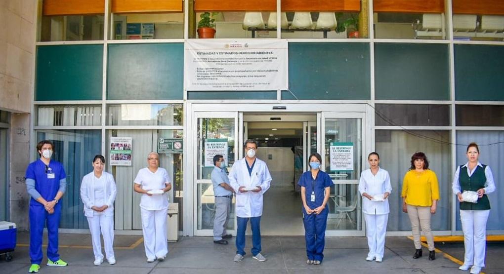 Entrega Médico en tu Casa equipo de protección a hospitales de Parral