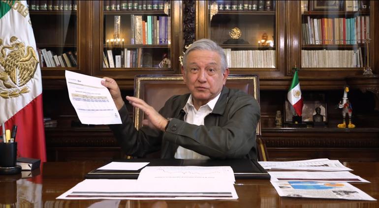 """""""Aumentó recaudación a 1 billón 276 mil pesos"""": AMLO"""