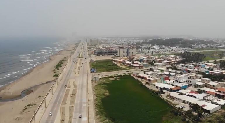 ¡Borroso Veracruz! Llegó el polvo del Sahara a sus costas