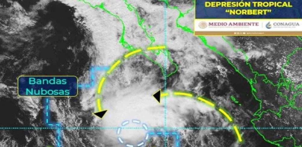 Se forma depresión tropical norbert en el océano pacífico