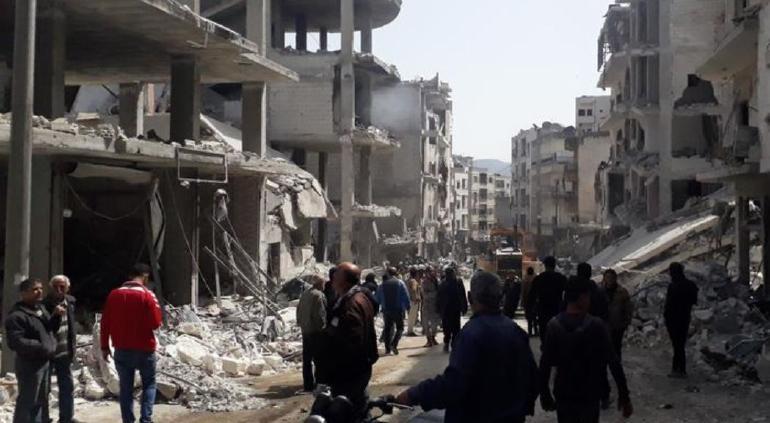 Bombardearon campamento guerrillero en Siria; 56 muertos