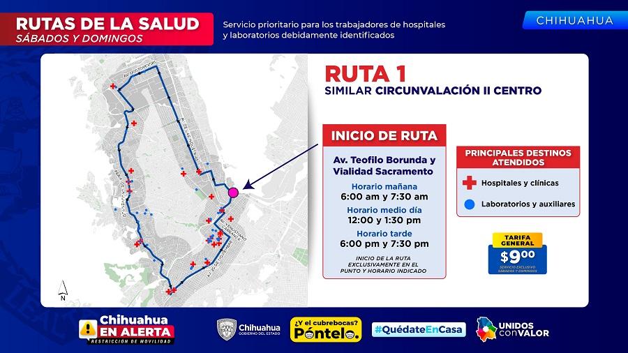 Operarán 13 Rutas de la Salud en Chihuahua y 6 en Juárez sábados y domingos