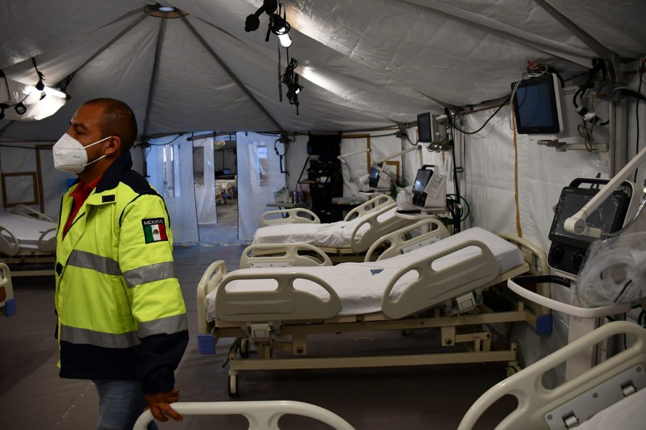 Reportan casi listo Hospital Móvil para COVID-19 instalado en Chihuahua capital