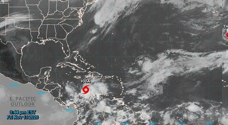 """Nació """"Iota"""" en el Caribe; azotaría Centroamérica como huracán"""