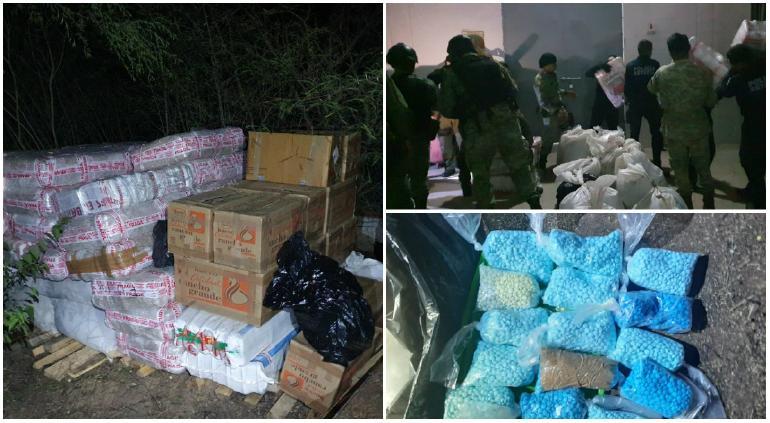 Aseguraron tres toneladas de drogas en Culiacán