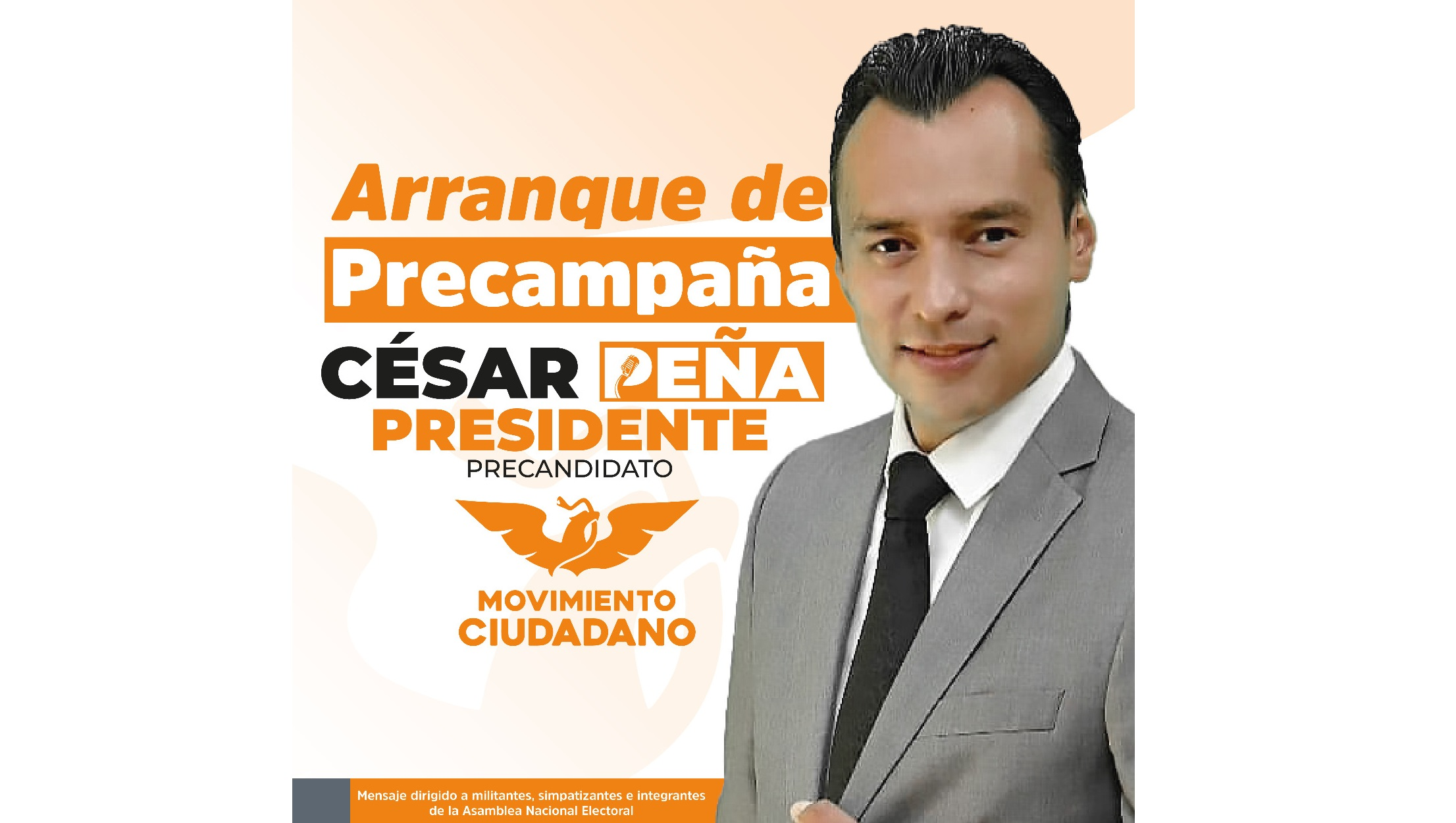 Este domingo arranca César Peña la precampaña por la alcaldía de Parral