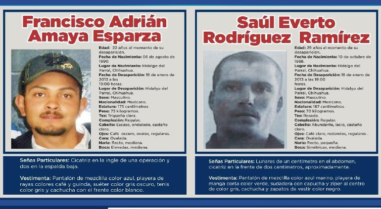 Piden apoyo a la ciudadanía para encontrar a Saúl y Francisco