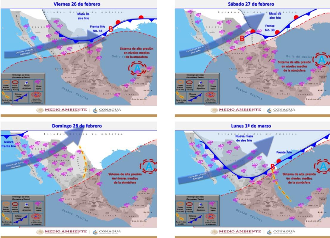 Advierten lluvias, aguanieve y nieve para la zona serrana este fin de semana