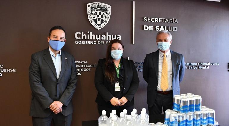 Dona Heineken 5 mil latas de agua, cubrebocas y gel antibacterial