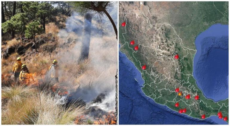 Reporta Conafor dos incendios forestales en Chihuahua; 19 en el país