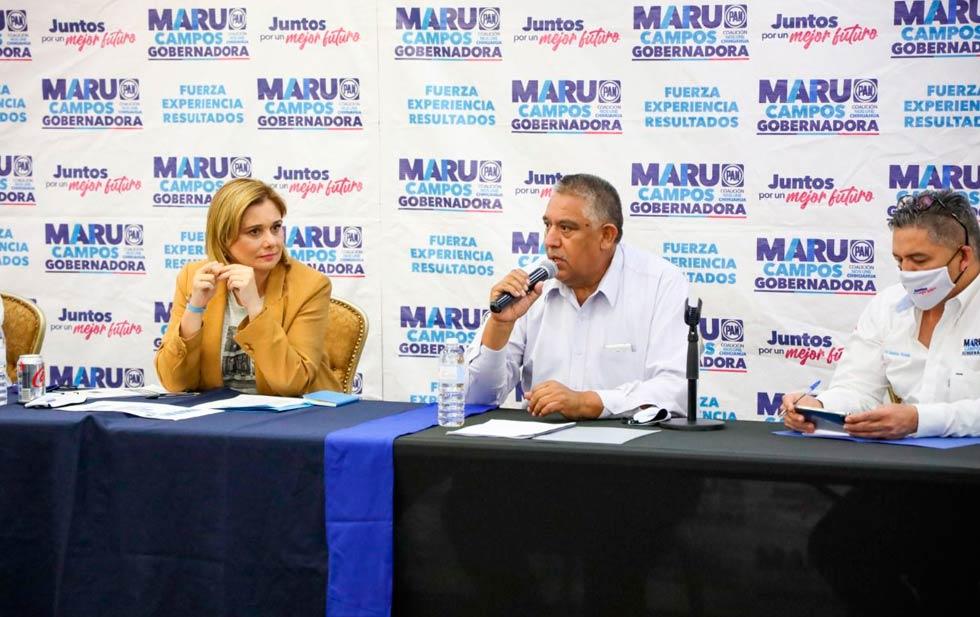 Se suman docentes a campaña de Maru Campos