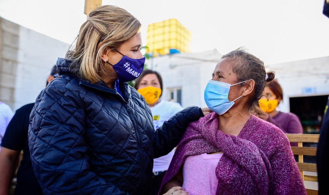 Maru sigue visitando y convenciendo en Juárez