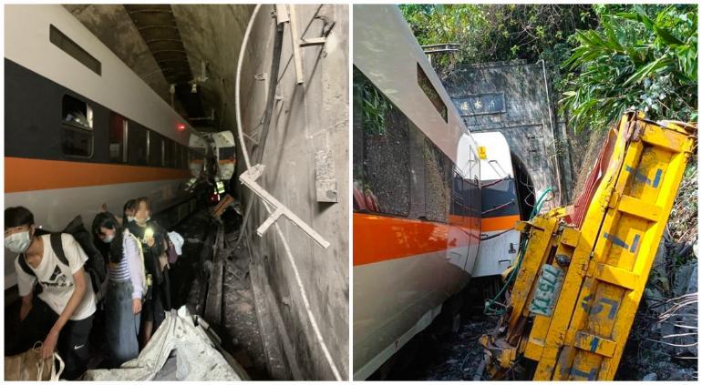Tragedia en Taiwán: descarrila tren; al menos 4 muertos y 20 heridos