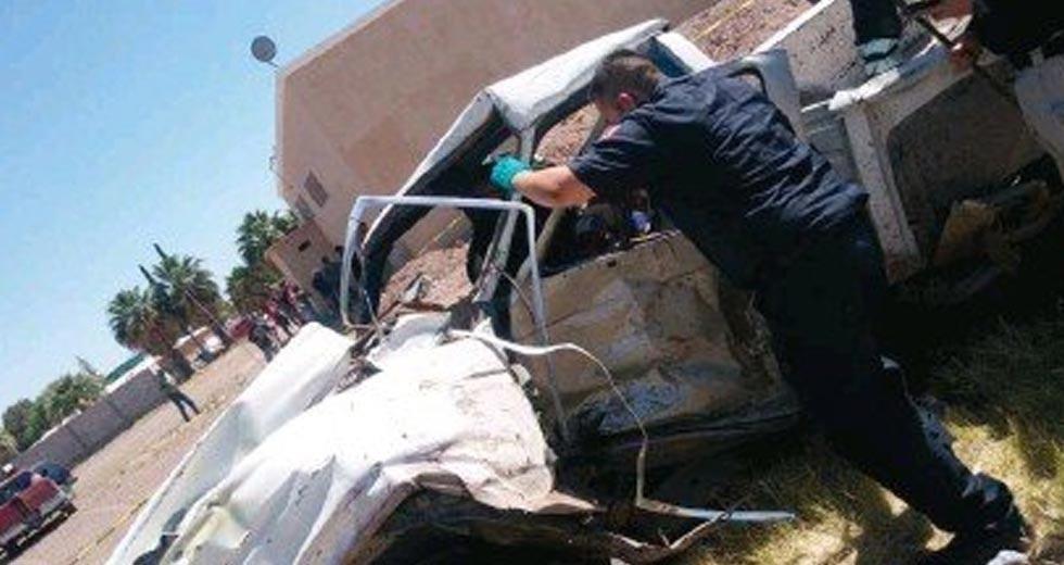 'Carreterazo' en Meoqui; muere niño de 2 años