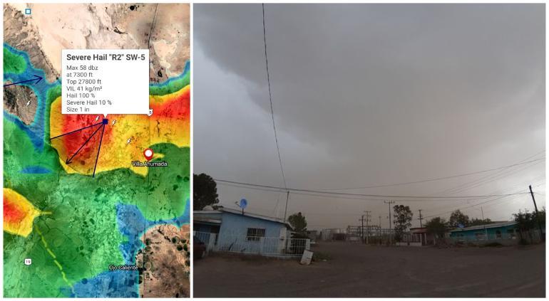 Llegó mesociclón a Buenaventura; alertan por inundaciones y granizo