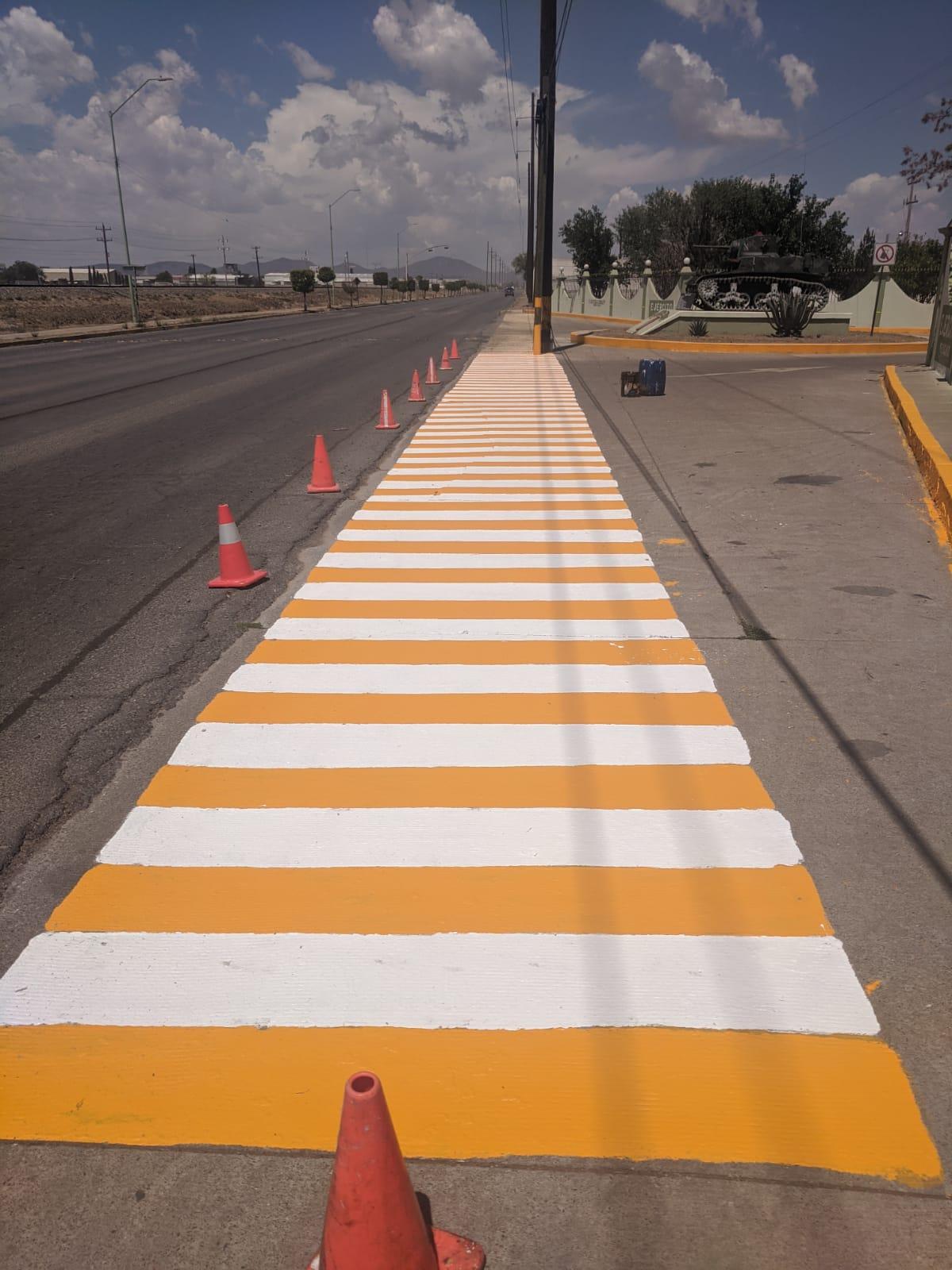 Continúa Policía Vial labores de señalización en Cuauhtémoc