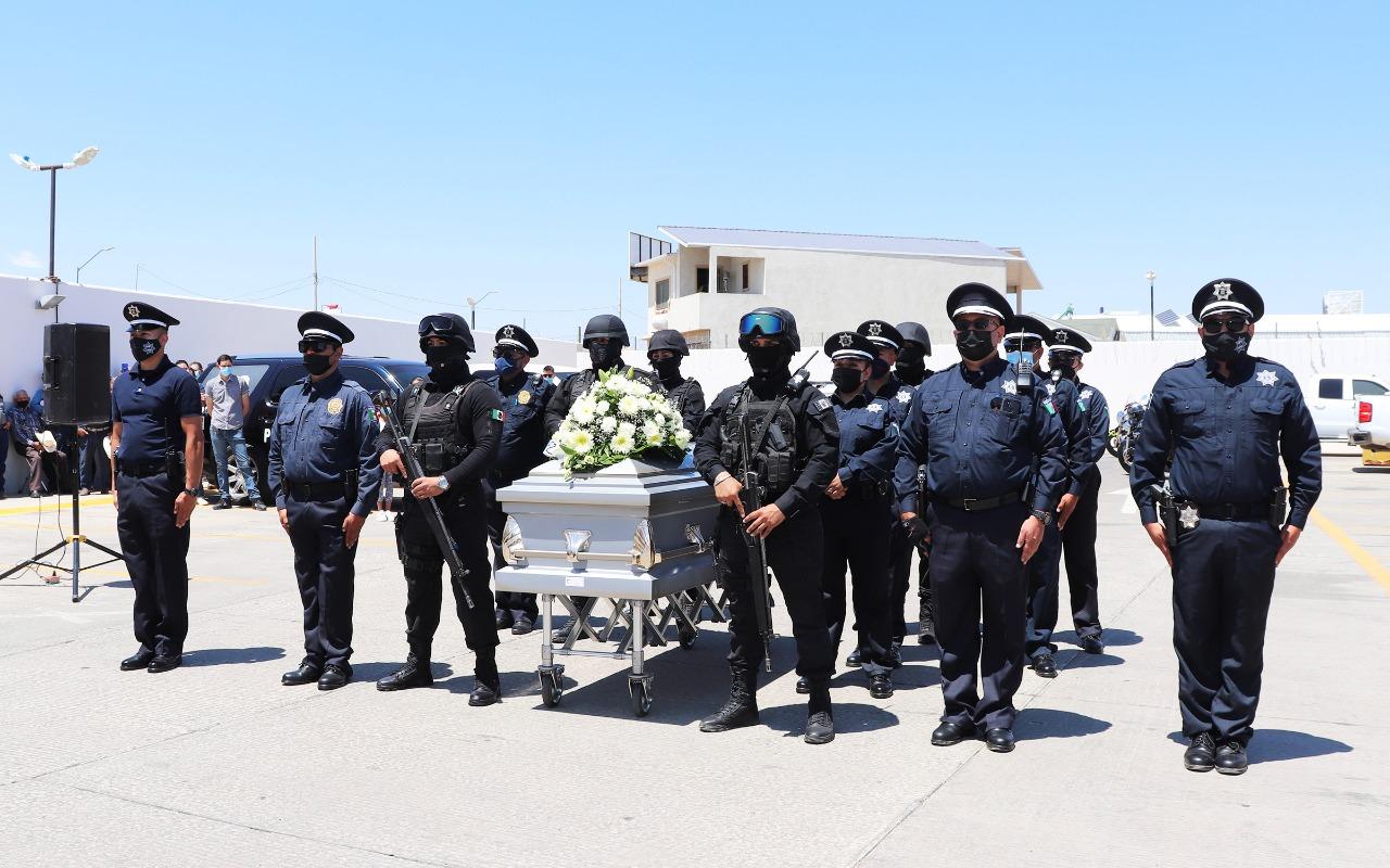 Cuauhtémoc > Rinden homenaje a agente vial que perdió la vida por causa natural